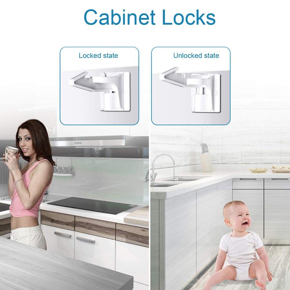 10 pcs pcs set fechaduras de gabinete facil instalar invisivel universal sem perfuracao guarda roupa para