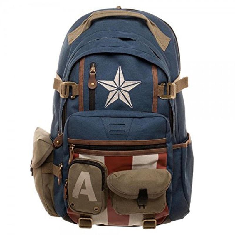 Captain America Bag Backpack Outdoor Travel Student School Bag Movie Superhore Cosplay Props