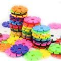 100 teile/los Kunststoff Schneeflocke Verbindenden Rohrleitungen Blöcke Gebäude & Bau Spielzeug Kinder 3D Puzzle Kindergarten Baby Spiel Spielzeug