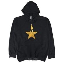 Hamilton autunno primavera con cappuccio Gli Uomini Americani Musicale di Broadway Oro Star pullover di Cotone degli uomini di stampa con cappuccio sbz3227