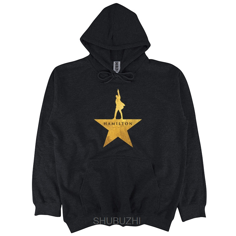 Hamilton Autumn Spring Hooded-Men American Musical Broadway Gold Star Cotton Pullover Men Printing Hooded Sbz3227