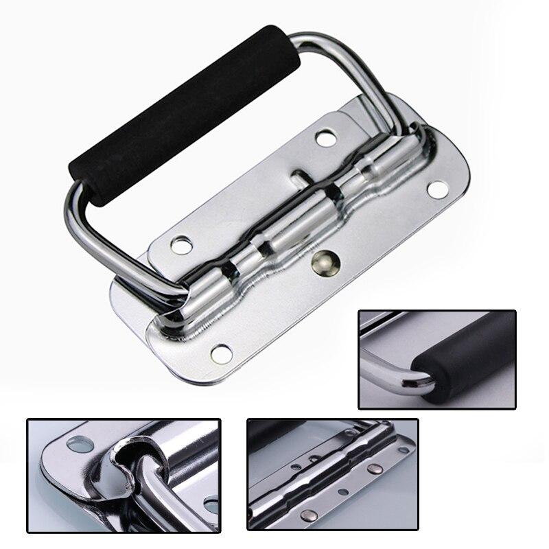 1pc ferragem primavera lidar com prop caixa ferramenta caso de alumínio alça móvel dobrável alça industrial|Puxador de gaveta|   -