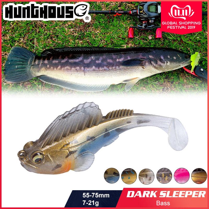 Hunthouse Fishing Lure Soft Bait Lead Jig Dark Sleeper Megabass Soft Lure Fishing Pike Lure Bass Shad For Fishing Perch
