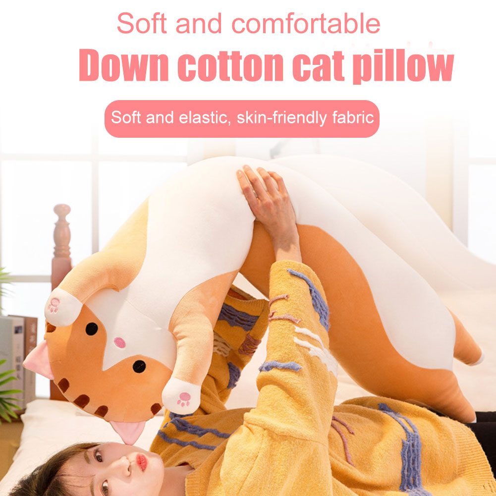 Image 2 - Cute plush cat doll soft filled kitten pillow doll toy gift for kids girlfriend toy sofa HUG Deals-in Decorative Pillows from Home & Garden