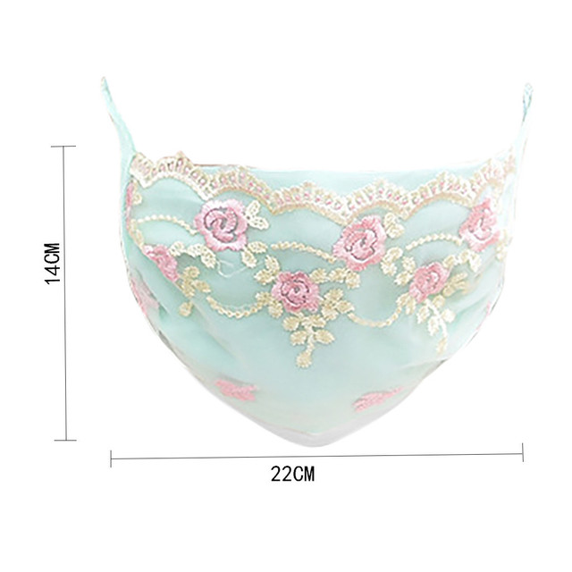 Korean face mask floral Embroidery cotton breathable masks protection dustproof cycling maske for women mondkapjes wasbaar 5