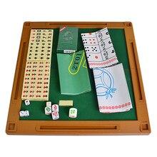 Mahjong-Set Board-Game-Set Entertainment Multifunctional Travel Mini Family for Outdoor
