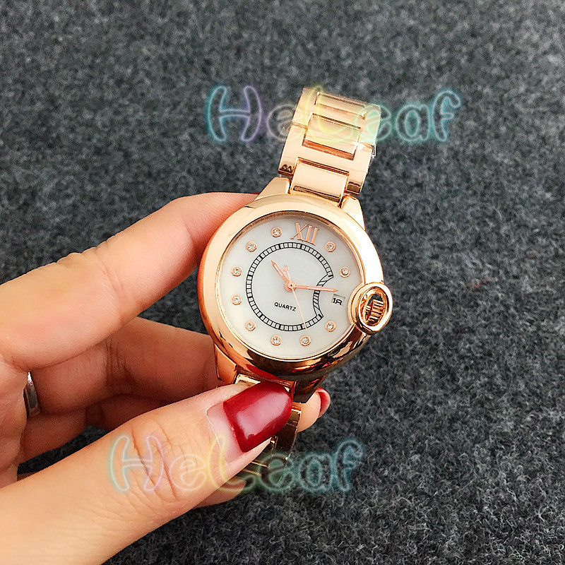 Fashion Silver Gold Rose Stainless Women Watch Quartz Wrist Watches Ladies Girls Famous Brand Female Clock Montre Femme Reloj