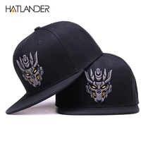 Hatlander Originale Nero Snapback Cappellini Equipaggiata Mens Cap 6 Pannelli Bone Cap Hip Hop Cappelli di Sport di Modo Berretto da Baseball Del Ricamo cappello