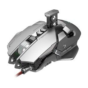 Image 5 - RGB metalowa mysz Gamer podświetlana mechaniczna przewodowa mysz 7 klawiszy 6400DPI regulowana definicja mysz do gier Gamer na PC Laptop