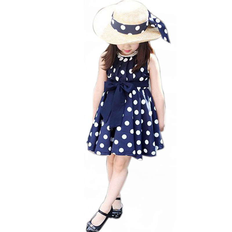 Модная детская одежда в стиле Лолиты; летнее платье в горошек для девочек 3-12 лет; винтажное платье для девочек; Vestidos; Лидер продаж