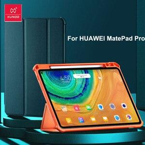 Чехол для планшета XUNDD с антиударной функцией Smart Sleep Flip Для Huawei MatePad Pro 10,8 рукав для планшета с держателем для карандашей для iPad