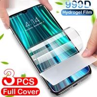 Pellicola salvaschermo 3Pcs Hydrogel per Xiaomi Mi Note 10 11 Ultra 10T 9T 9 Lite Poco M3 X3 NFC 5G Pocophone F3 F1 F2 Pro Glass