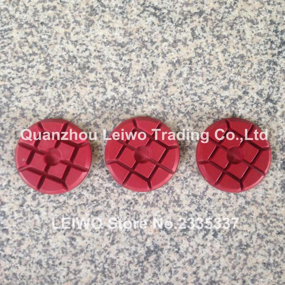 3 unids/lote Grit 400 almohadilla de pulido Typhoon 4 pulgadas (100mm) Suelo de resina diamante piedra granito mármol hormigón espesor húmedo 10 mm