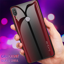 Case+Tempered Glass For Asus Zenfone Max Pro M2 ZB631KL Case Gradient Tempered Glass Cover For Max M2 ZB633KL Max Pro M1 ZB602KL цены