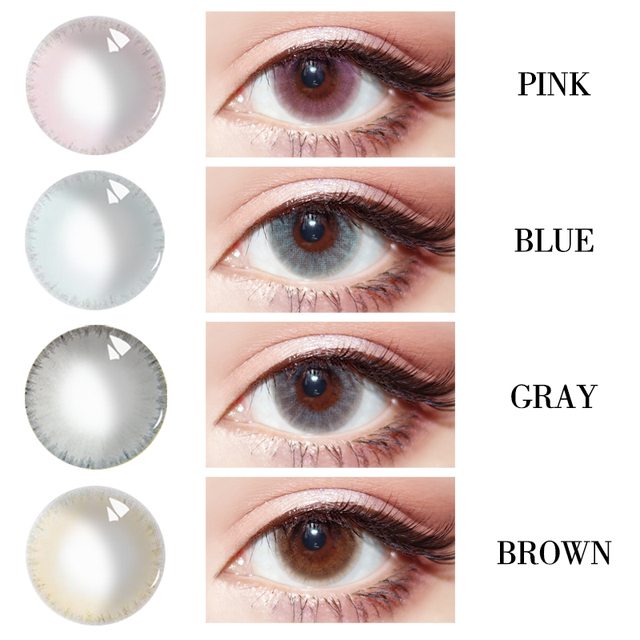 Diopter myopia Beautiful Pupil Color Contact Lenses Prescription Female Path 14.5mm Cute Multicolor Party Gift  Girl Cosplay 3