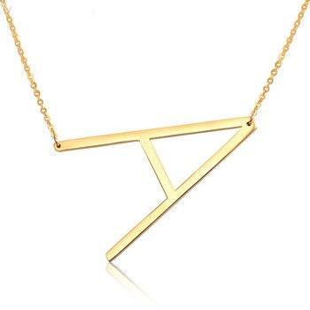 Элегантные ожерелья с 26 буквами, подвески с алфавитом, 3 цвета, колье из нержавеющей стали, ожерелье для женщин и девушек, ювелирная цепочка