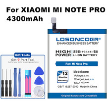 BM34 LOSONCOER 4000 mAh Baterias de Telefone Celular Bateria de Li-ion Embutida Para Xiao mi mi Nota Pro
