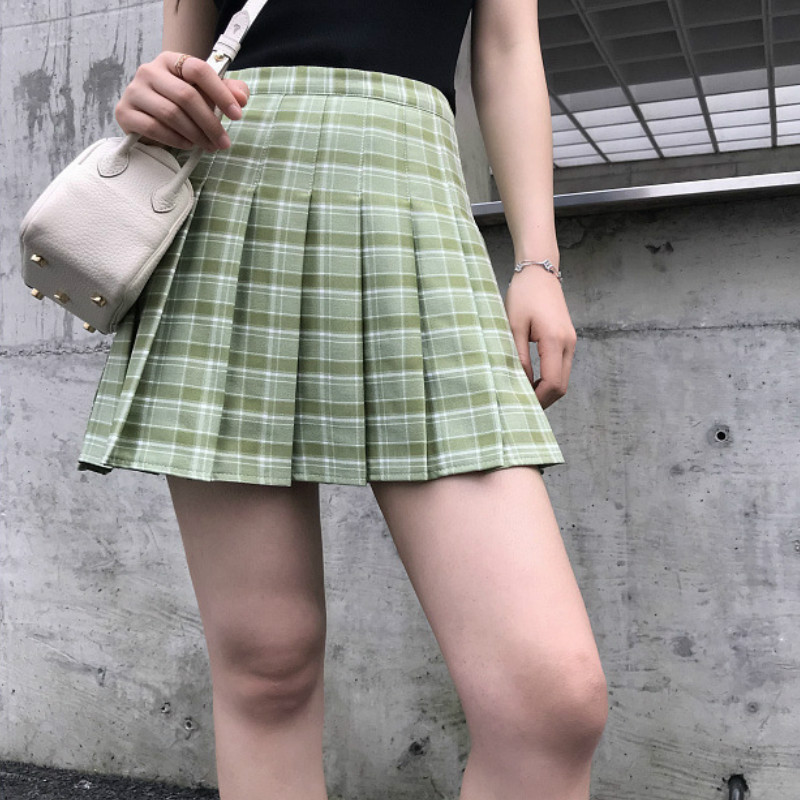 XS-2XL Women Skirt Harajuku High Waist Chic Stitching Skirts Summer Casual Pleated Skirt Women Cute Sweet Girls Dance Skirt