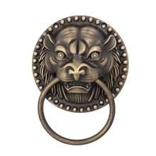 1 шт старинный дверной молоток из цельного дерева голова тигра