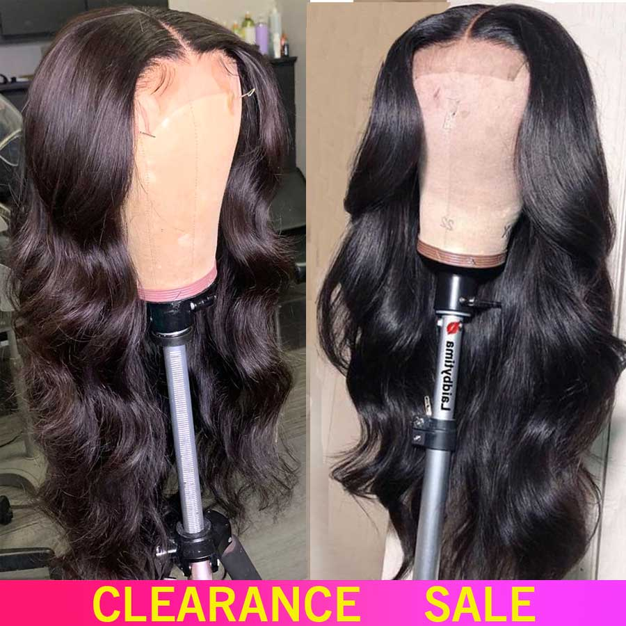 150%  Lace Front Human Hair Wigs 13X4 Pre Plucked Non Remy Swiss Brazilian Body Wave Lace Front Wigs For Black Women