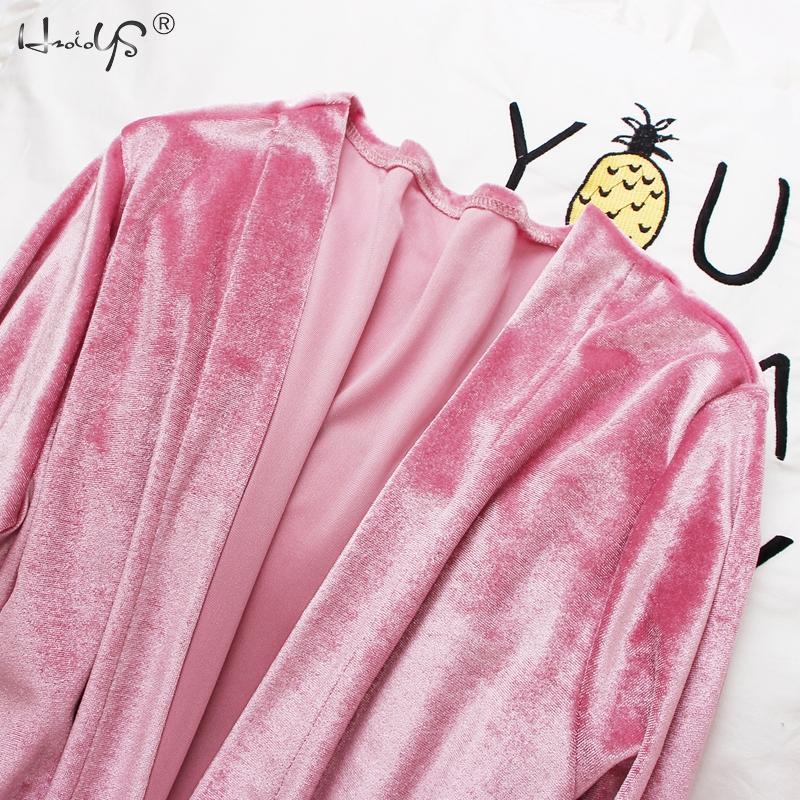 2019 Gold Velvet Robe & Gown Sets 3-6 Pieces Warm Winter Pajamas Sets Women Sexy Lace Robe Pajamas Sleepwear Nightwear Homewear 51