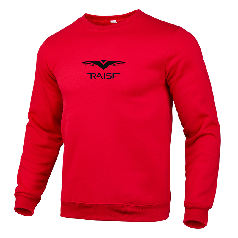 Fall/Winter 2021 Large Size Men's Slim Pullover Sweater Men's Solid Color Printing O-Neck Fashion Casual Pullover M-4XL