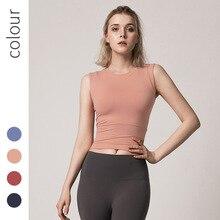купить Tight Yoga Tank Tops Sleeveless Fitness Yoga Shirts Quick Dry Running Sports Vest Workout Yoga Shirt Gym Running Sports Femme дешево
