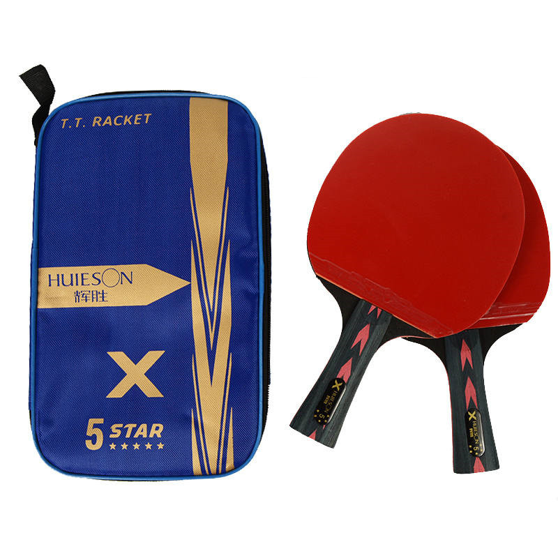 Huieson Table Tennis Racket Set 3Types Short Long Handle Carbon Fiber Blade Ping Pong Rackets Bat With Case Shipping From Russia
