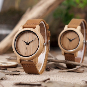 Image 3 - BOBO BIRD Couple Watch Men Women Wood Quarzt Wristwatches for Male Personalized Engraved Anniversary groomsman Gift