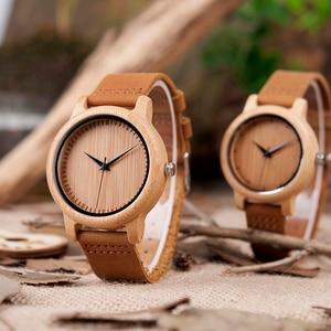 Image 3 - BOBO BIRD reloj de madera para hombre y mujer, relojes de pulsera para hombre, grabado personalizado, regalo de padrino de aniversario