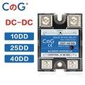 Однофазный радиатор с контролем постоянного тока CG SSR-10DD 25DD 40DD 200A 600A SSR, твердотельное реле постоянного тока от 3 до 32 В до 220 В постоянного ток...