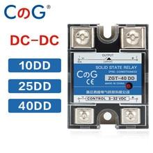 CG SSR-10DD 25DD 40DD 200A 600A SSR Single Phase DC Control DC Heat Sink 3-32VDC To 220VDC 600V 10A 25A 40A DD Solid State Relay