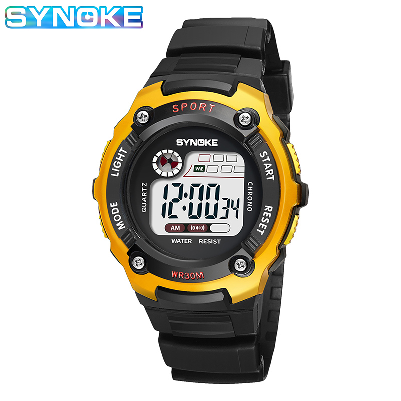 SYNOKE Sports Digital Watch For Kids Boys Girls - Best Gifts Waterproof Multi-function Colorful Luminous Week Student Clock