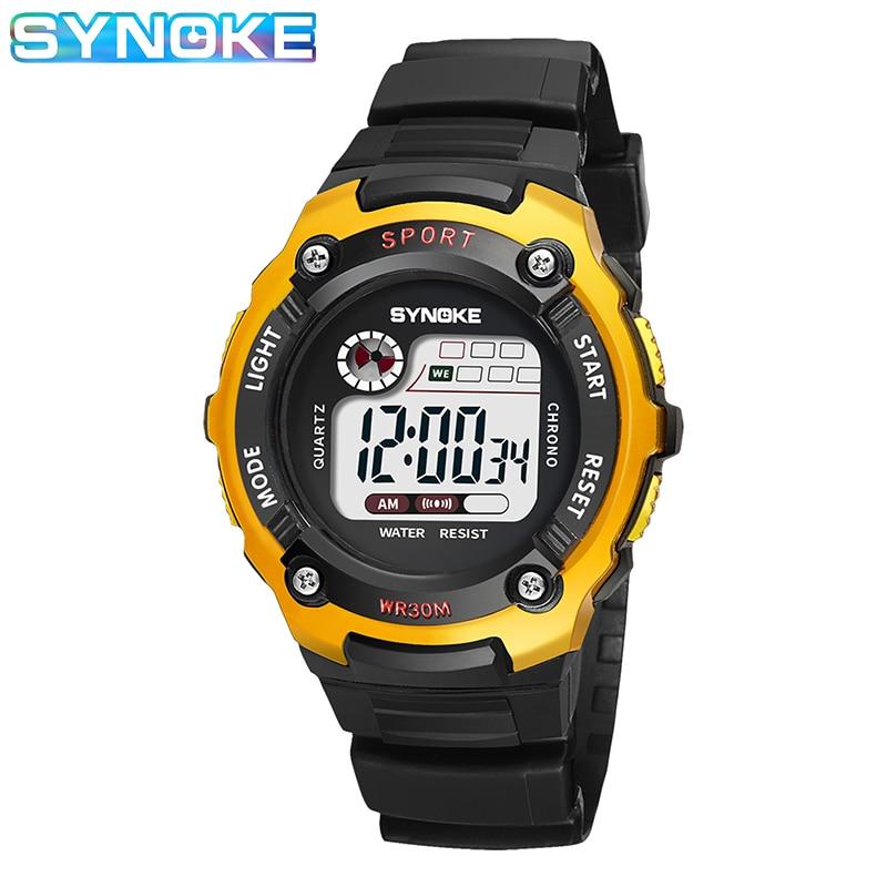 SYNOKE Sports Digital Watch For Kids Boys Girls - Best Gifts Waterproof Multi-function Colorful Luminous Week Student Clock