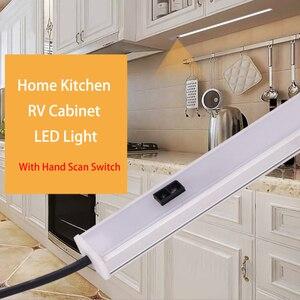 2pcs 4500k 12V Camper Accessories Light Car Cabinet Light Awning RV Interior Marine Caravan Cabinet LED Kitchen Lamp