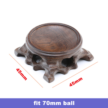Wood Display Stand for Crystal Glass Lens Ball Large Divination Photography Lensball Base 40 60 80 100mm Big Magic Sphere Holder 14