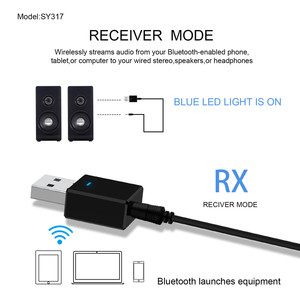 Image 5 - VIKEFON Bluetooth Receiver Transmitter Bluetooth 5.0 Dongle AUX RCA USB 3.5mm Jack Audio Wireless Adapter For TV PC Car Kit