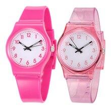 30M Waterproof Children's Watch Casual Transparent Watch Jel