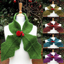 Multi color wool scarf cherry decorative leaf 2020 winter high