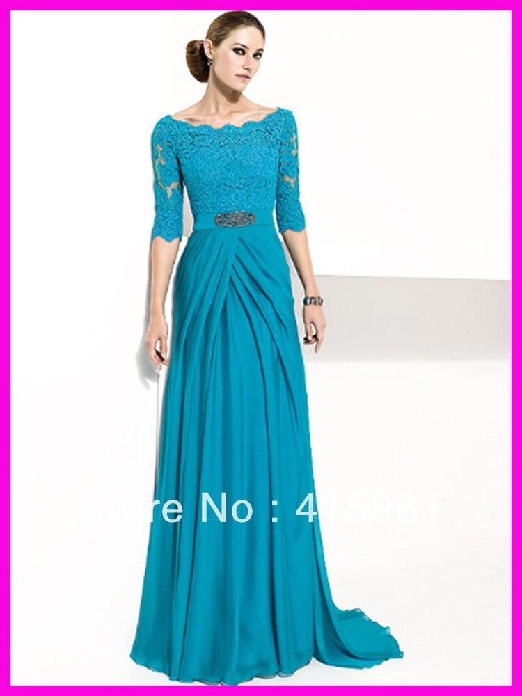 Livraison gratuite vestido de madrinha 2019 nouveaux vestidos meilleur dentelle longueur de plancher perles personnalisé mère de la mariée robes en mousseline de soie