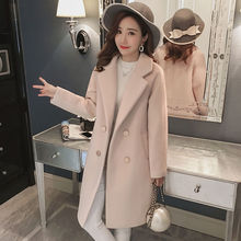 Woolen jacket female autumn winter new Korean slim long section of the woolen coat popular winterjas dames mantel damen