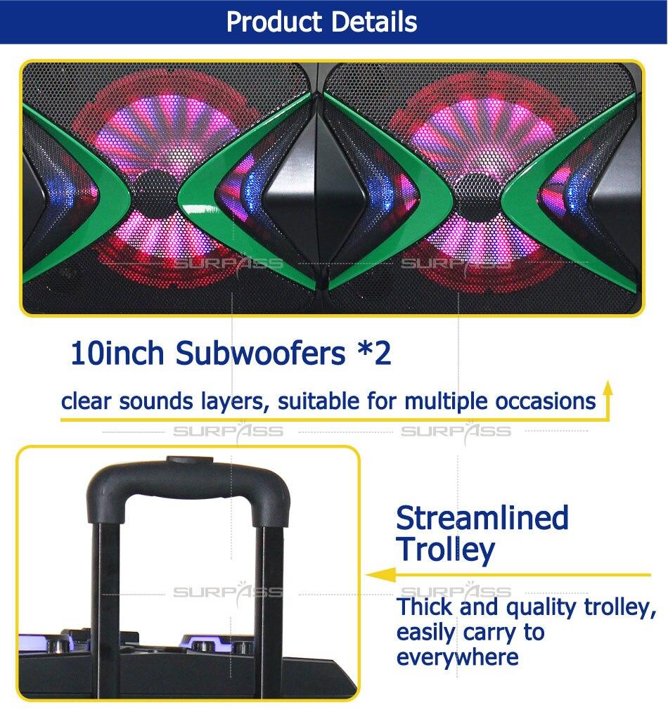 10 subsubsubwoofers plástico de madeira grande potência karaoke alto-falante