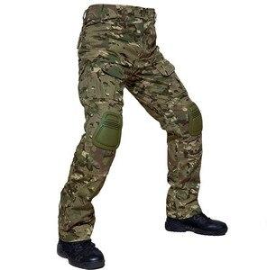 Image 4 - 위장 전술 복장 무릎 패드와 군사 바지 남자 전술화물 바지 군인 미국 육군 바지 Paintball Airsoft