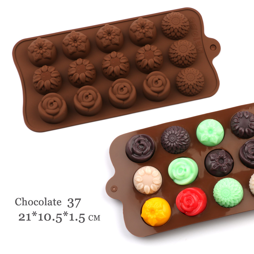 29 Shapes Silicone Baking Molds Made Of Pure Silicon Material For Jelly And Candy Mold 5