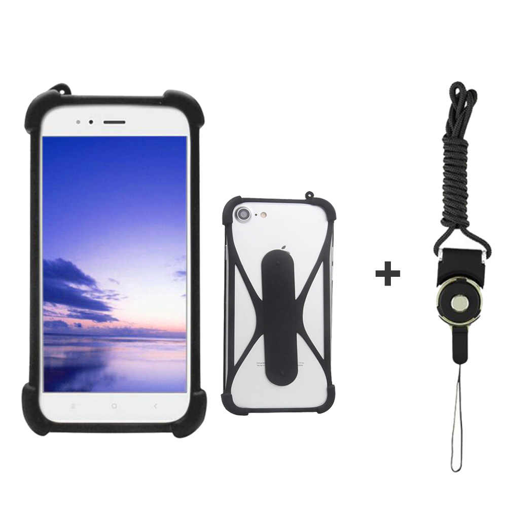 Case Doogee Homtom C13 5 Inch Universal Smartphone Silicone Case Pemegang Telepon Dukungan Cell Phone Case untuk Doogee X90 /X90L