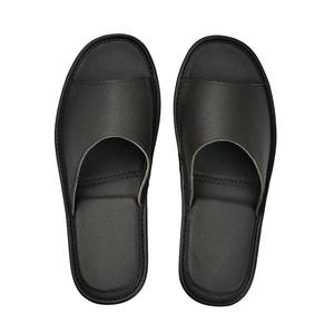 Image 2 - Genuine Cow Leather slippers couple indoor non slip men women home fashion casual single shoes TPR soft soles spring summer