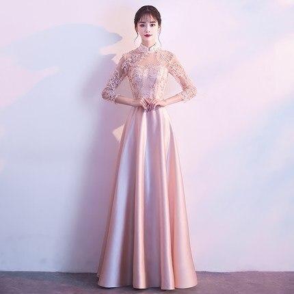 2020 Vestido Longo Prom Dresses Bridesmaid Dress 2020 New Korean Sister Girlfriends Chinese Evening Skirt Elegant Long Style