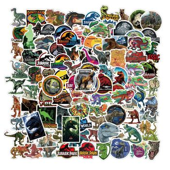 100Pcs Cool Animals Stickers for Jurassic Dinosaur Series Anime Graffiti Sticker for Luggage Laptop Skateboard Car Decal Kid Toy image