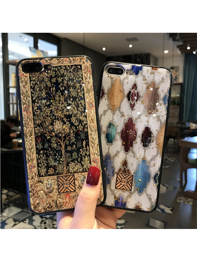 Gold Foil Marble Bling Phone Case For iPhone 11 pro XS Max XR X TPU Granite Geometry