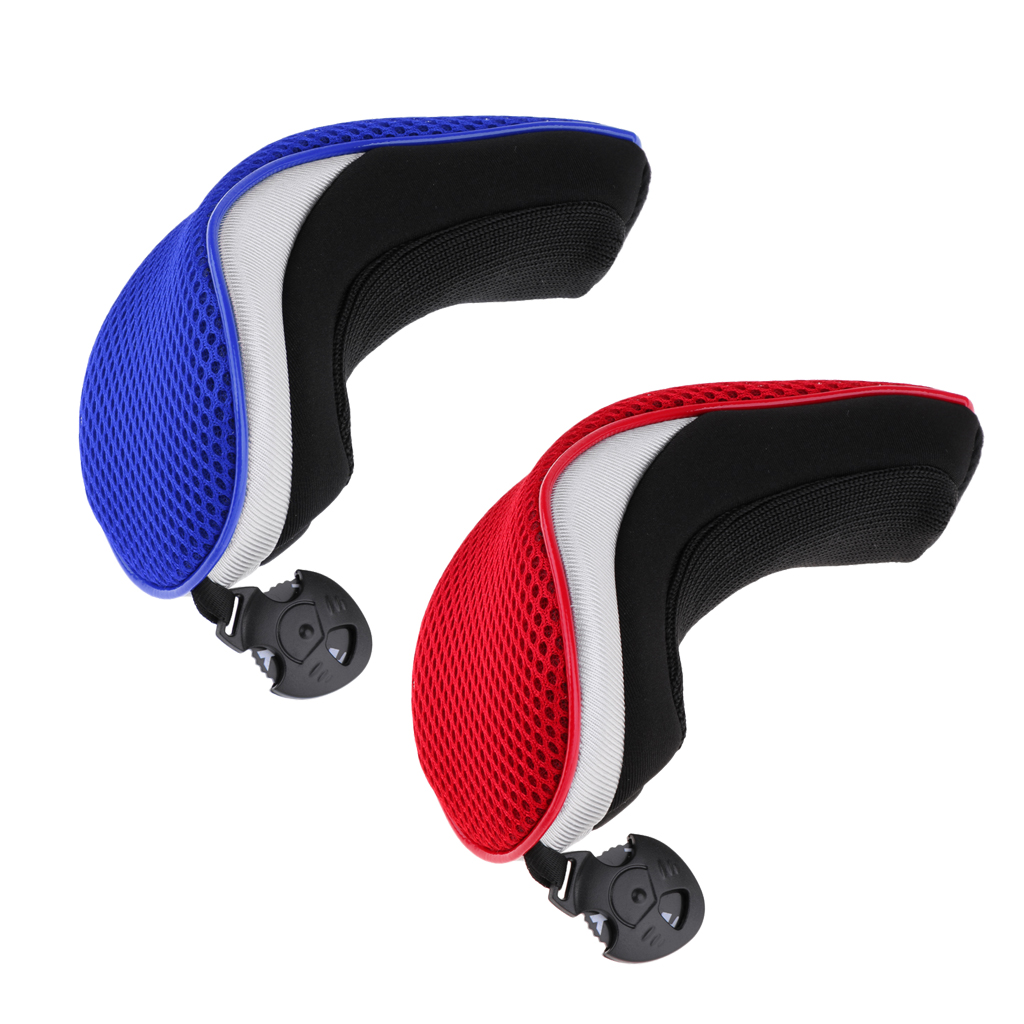 Купить с кэшбэком 2pcs Golf Hybrid UT Club Rescue Head Cover Headcover Utility Golf Club Head Cover Golf Club Headcover Golf Accessories